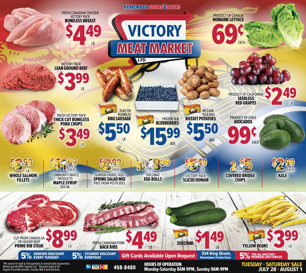 Victory Meat Market Canada Day Flyer